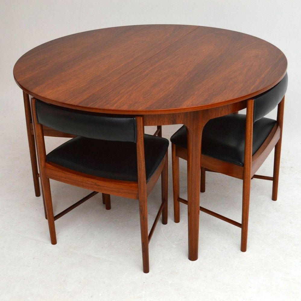 Mid Century Rosewood Dining Table and Four Chairs by McIntosh