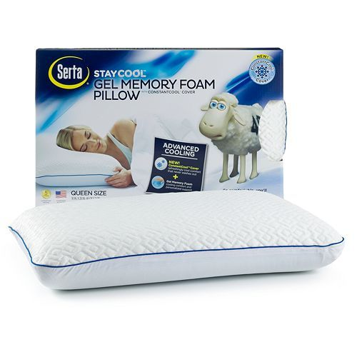 Serta Stay Cool Gel Memory Foam Pillow Make Comfort And