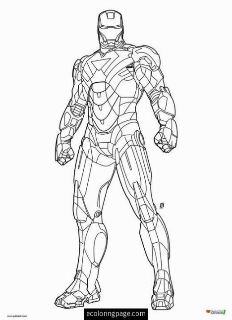 Coloring Book Iron Man Coloring Books Comic Book Artwork Man