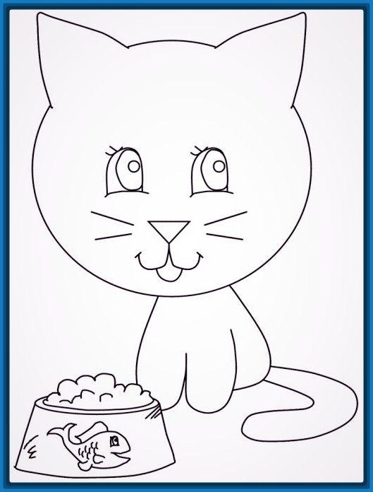 Dibujos faciles pero lindos | Dibujos | Cats, Coloring pages y Cat Food