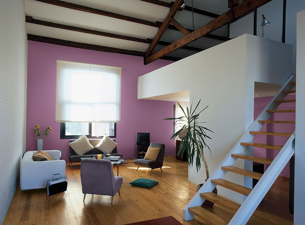 Matching wall color with a hardwood floor isn't always