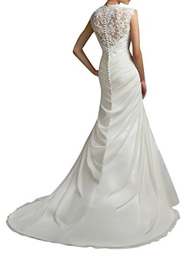 051900f4bc DAPENE® Women s Lace Sweetheart Mermaid Train Bride Gown Wedding Dress   Amazon.co.uk  Clothing