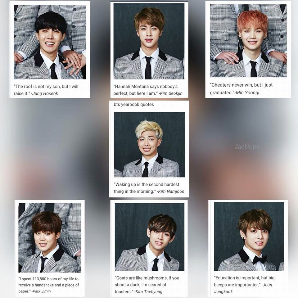 Pin By Dilly Carson On Kpop And Kdrama Funny Yearbook Quotes Bts Memes Hilarious Bts Funny