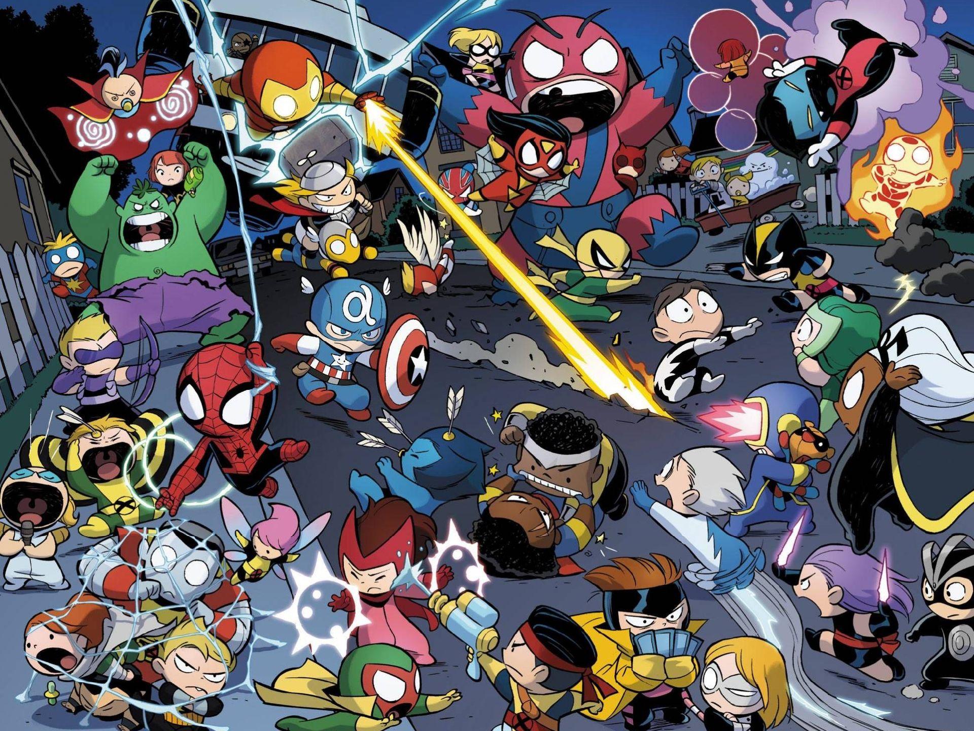 Comics Avengers Vs. X-Men Babies Wallpaper #465863 ...