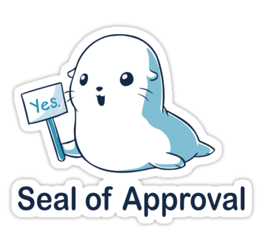 Seal Of Approval Sticker By Lnsplration Graphic Design Gifts Hipster Stickers Sticker Collection