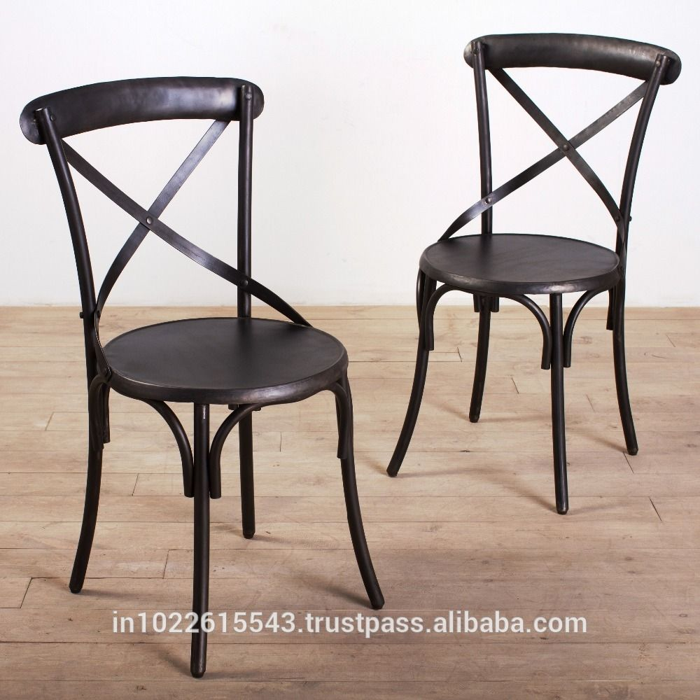 Powell Wood And Metal Dining Chair Style Black View Garud Enterprise