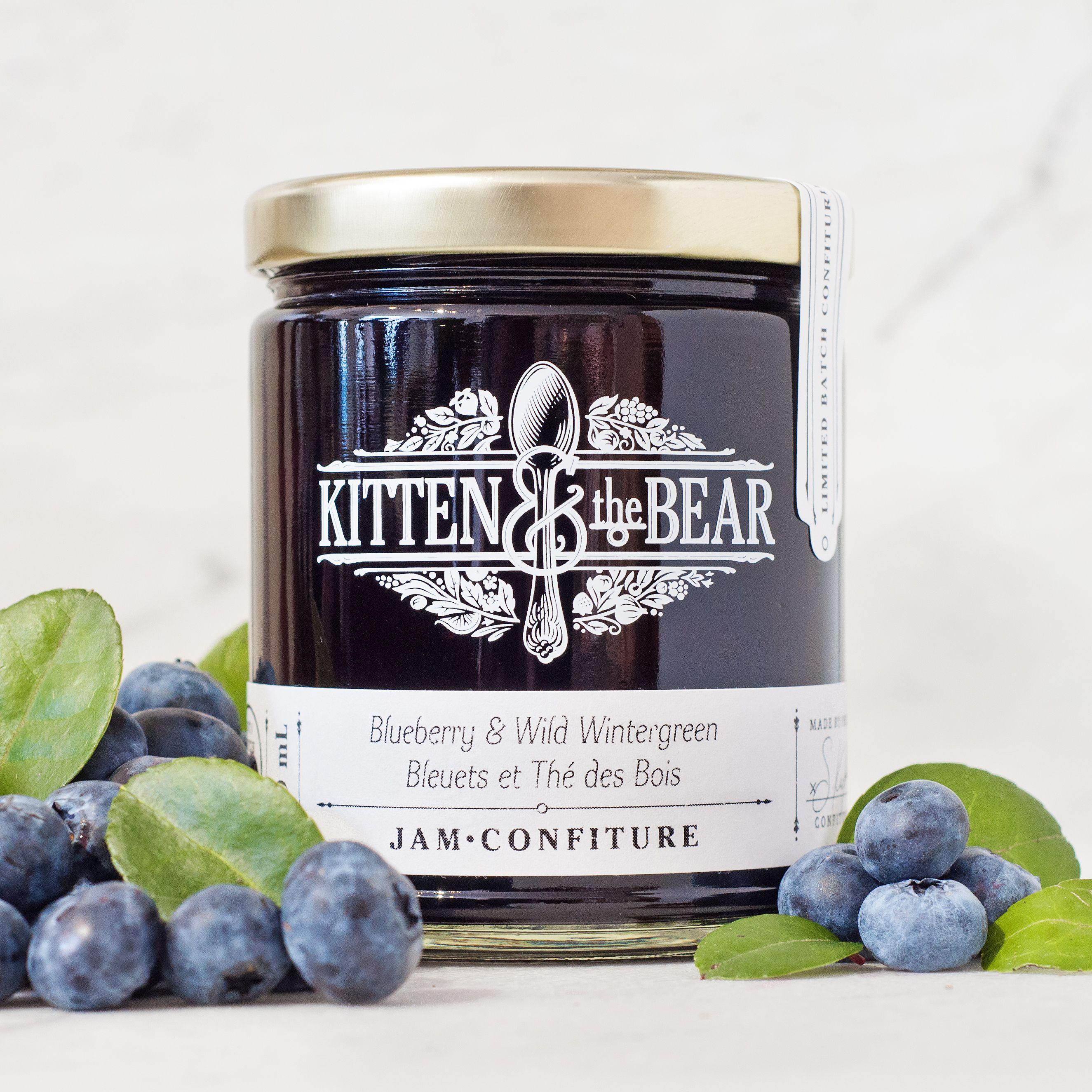 Blueberry Wild Wintergreen Jam Kitten And The Bear Blueberry Wintergreen Preserves