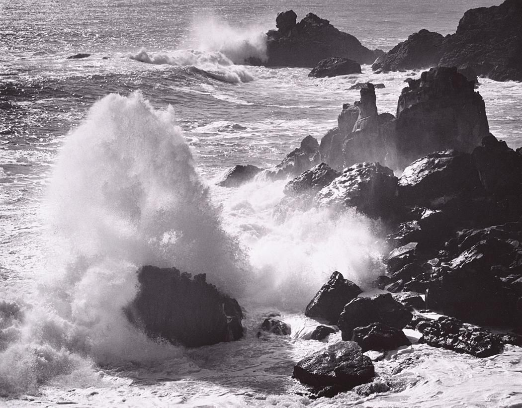1963 Storm Surf, Timber Cove, California [waves breaking on rocks ...