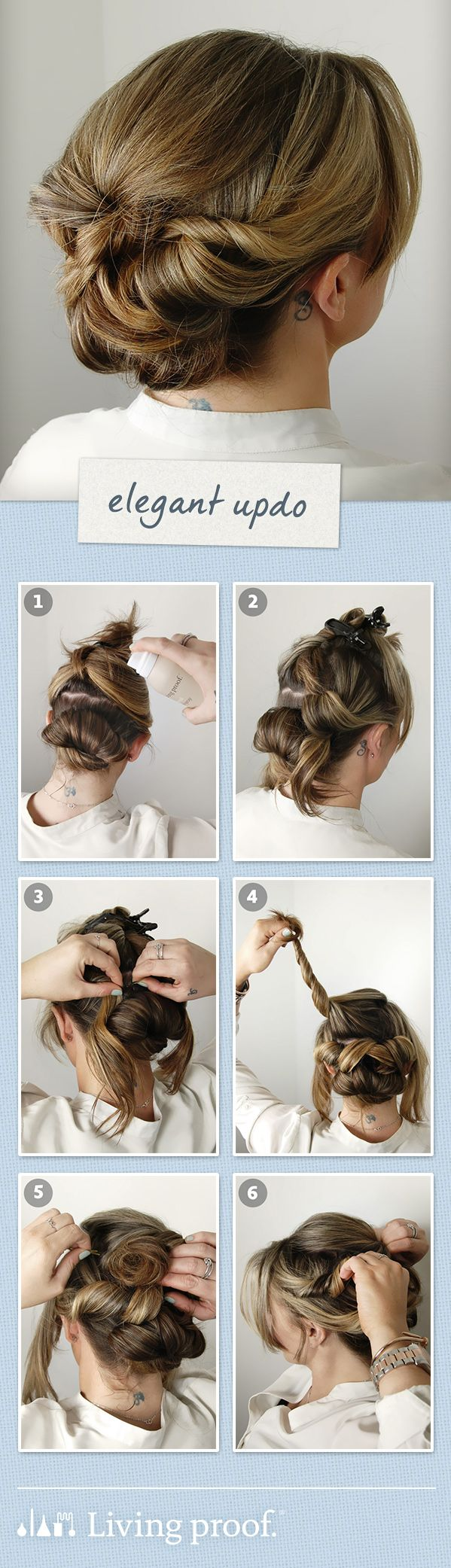LivingProofInc Wedding Guest Hairstyle:Elegant Updo | hair care and ...