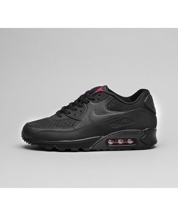 watch 1b93e 4d2eb Nike Air Max 90 Essential Chaussures Noir Rouge
