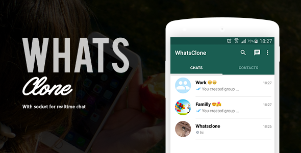 WhatsClone an application that allow to have a real-time chat with friends (Like WhatsApp). You can send and share (images or videos or audio or pdf) ...etc.   #chat application #Chat with Socket #real-time chat #WhatsClone
