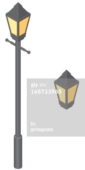 A Vector Illustration Of An Old Fashioned Isometric Lamp Post Lamp Post Isometric Lamp