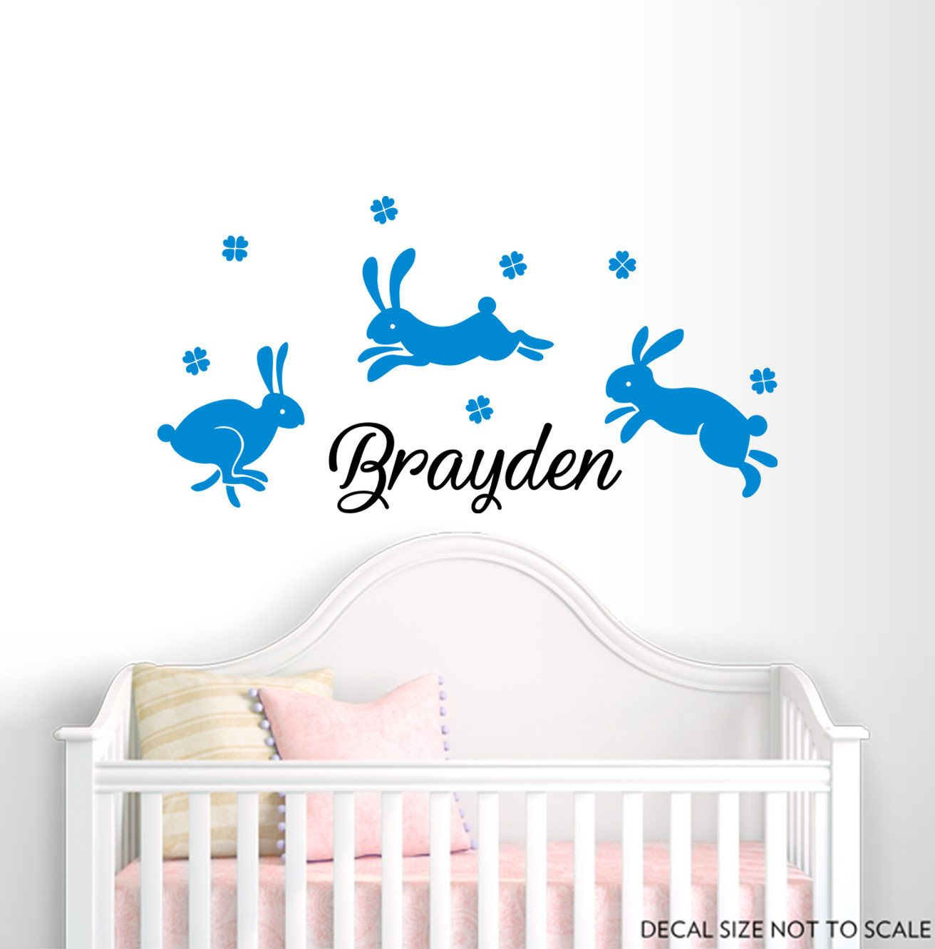 Boy Name Wall Decal Rabbit Decals
