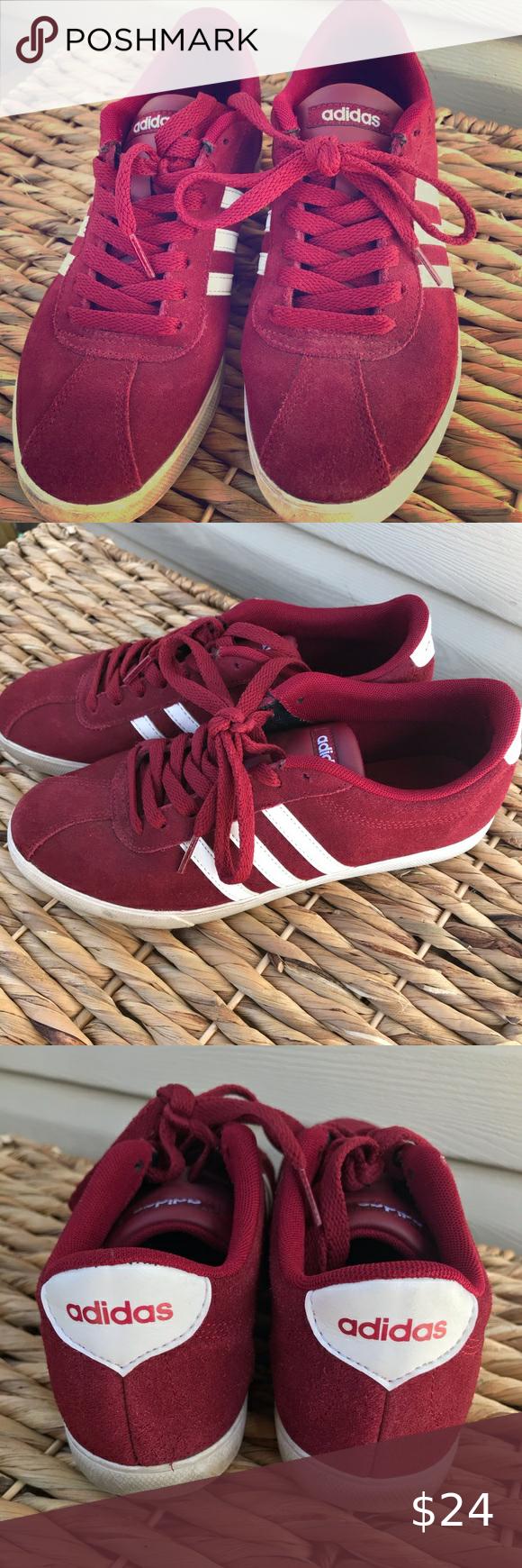 ADIDAS Neo Comfort Footbed Burgundy | Adidas neo, Red adidas ...