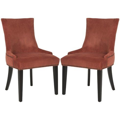 Safavieh Lester Dining Chair Set Of Rust Furniture Seating Chairs