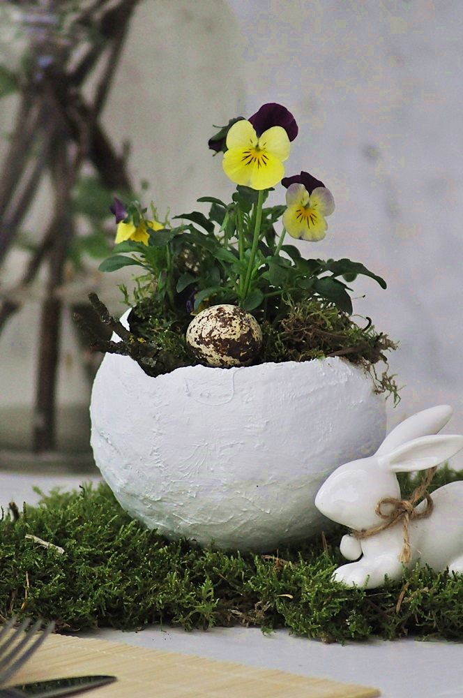 Bild von [DIY]: Dekorative Eier zum Pflanzen auf dem Ostertisch – Smillas Wohn