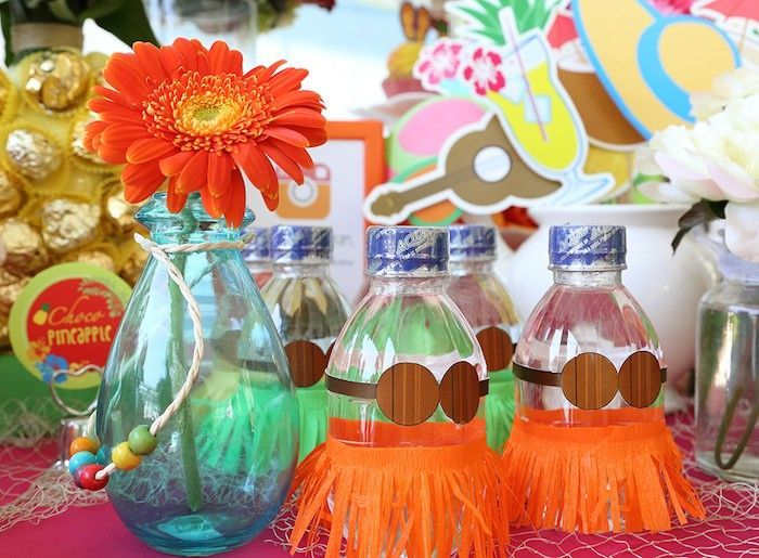 decorar botellas para cumpleaos de moana
