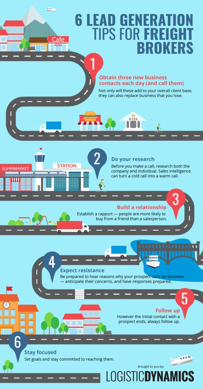6 Lead Generation Tips for Freight Brokers [Infographic