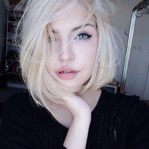 beauty, blonde, blue, eyes, fashion, gorgeous, selfie, short hair, tumblr, white girl