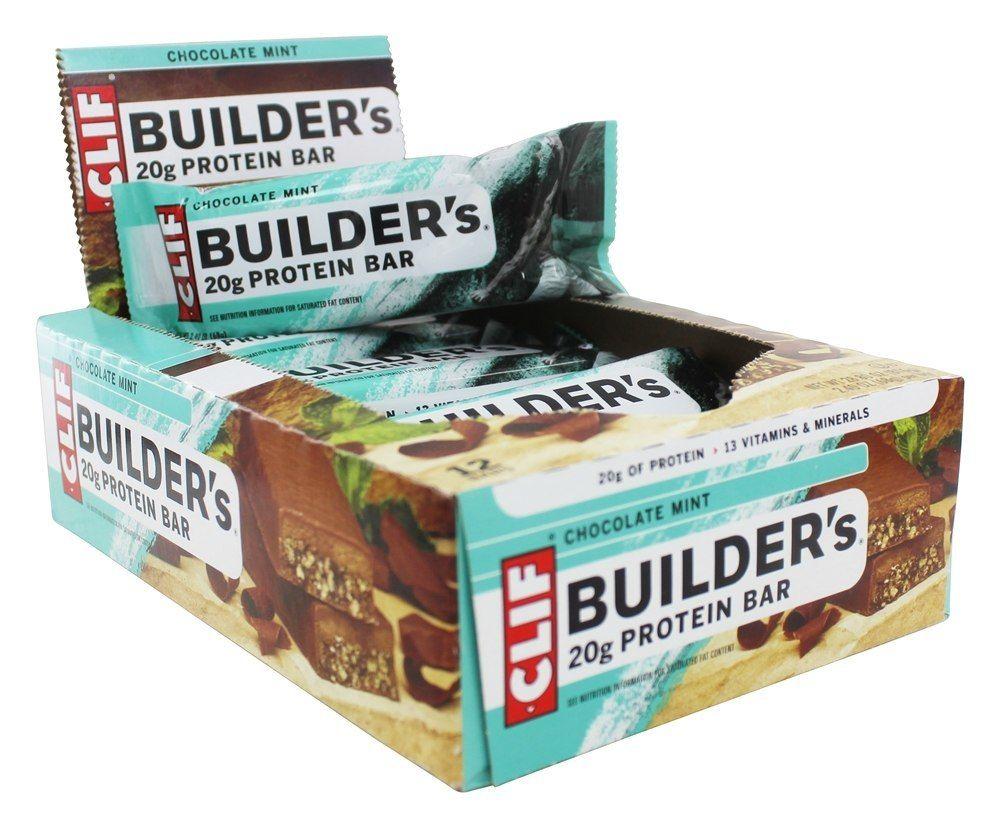 Clif Bar Builder S Protein Bars Box Chocolate Mint 12 Bars Clif Bars Protein Bars Mint Chocolate
