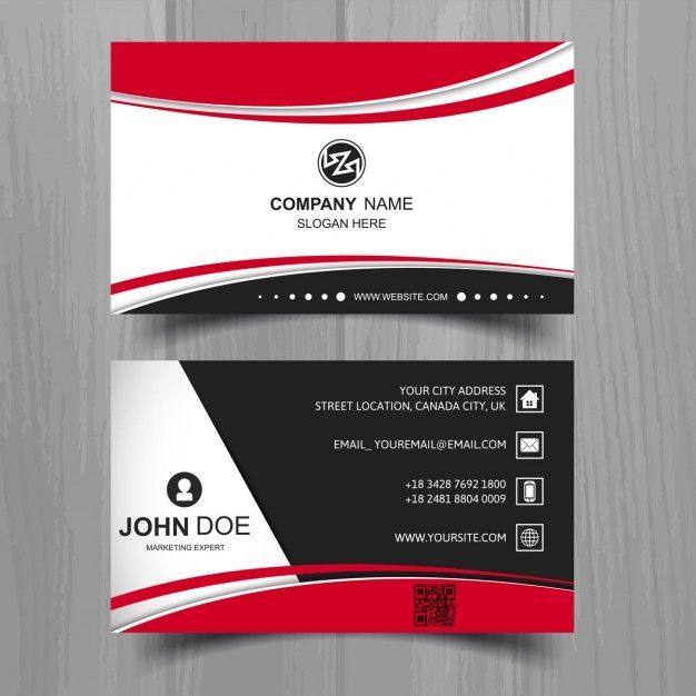 Black business card with red shapes free vector business cards black business card with red shapes free vector reheart Images