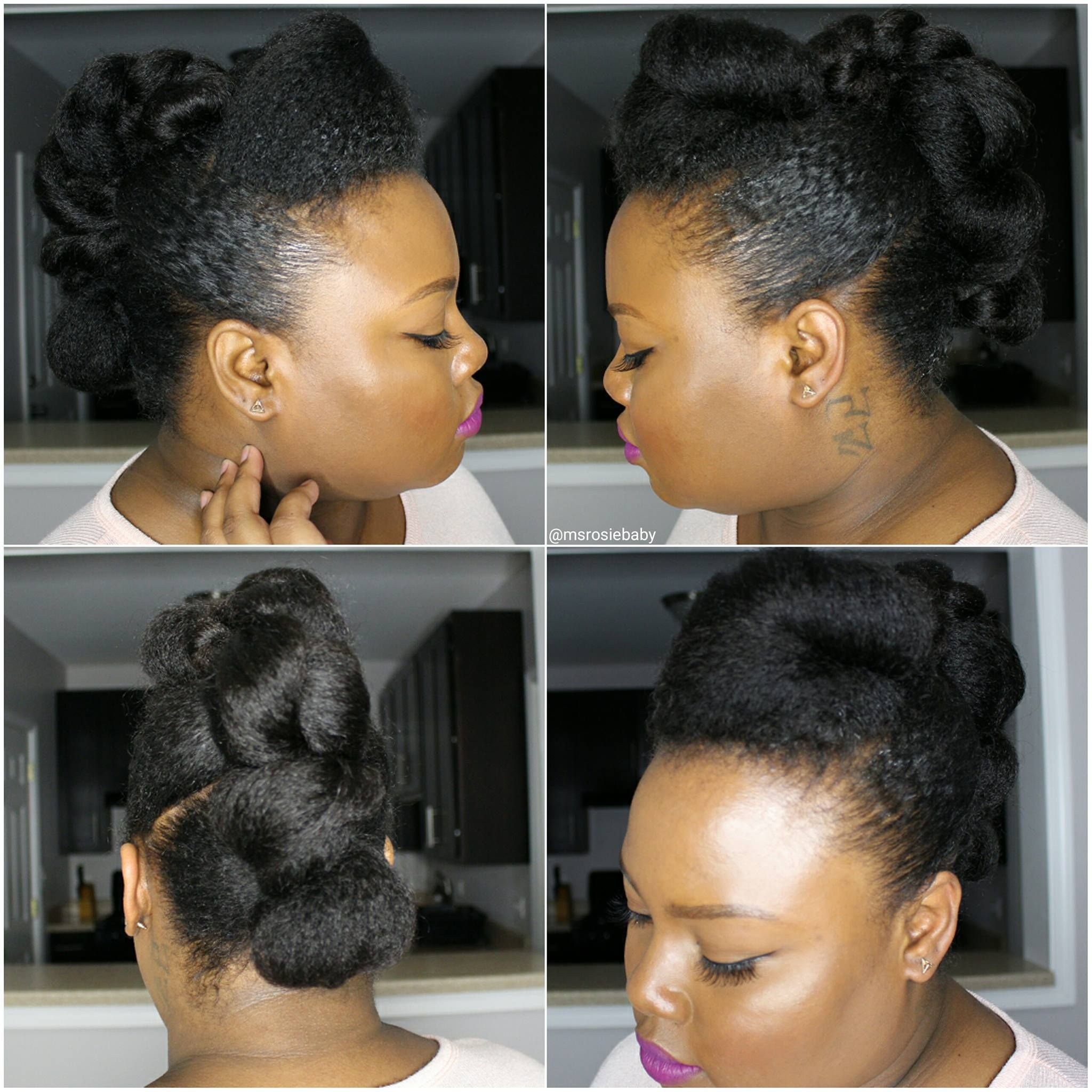 @msrosiebaby| Natural Hair Up-Do 04.27.2016