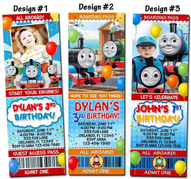 Thomas The Train And Friends Birthday Ticket Invitations