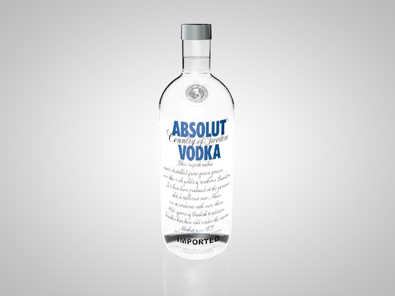Absolut Vodka Bottle Absolut Vodka Vodka Bottle Vodka