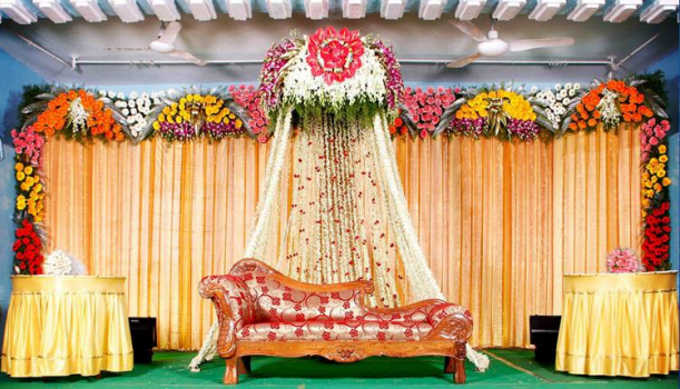 wedding stage decoration | Wedding Decorators | Pinterest | Flower ...