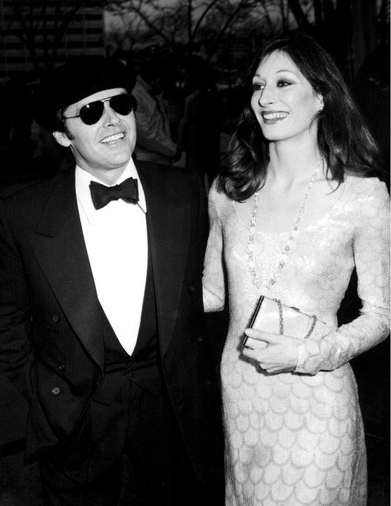 Jack Nicholson and the stunning Anjelica Huston