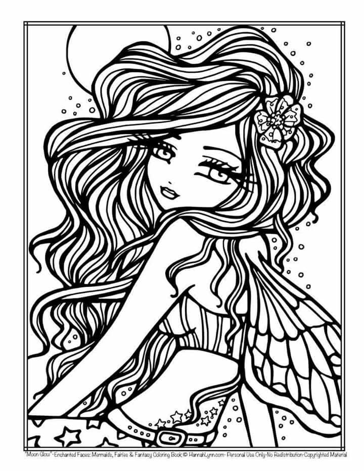 Hannah Lynn Mermaid Coloring Pages Fairy Coloring Pages