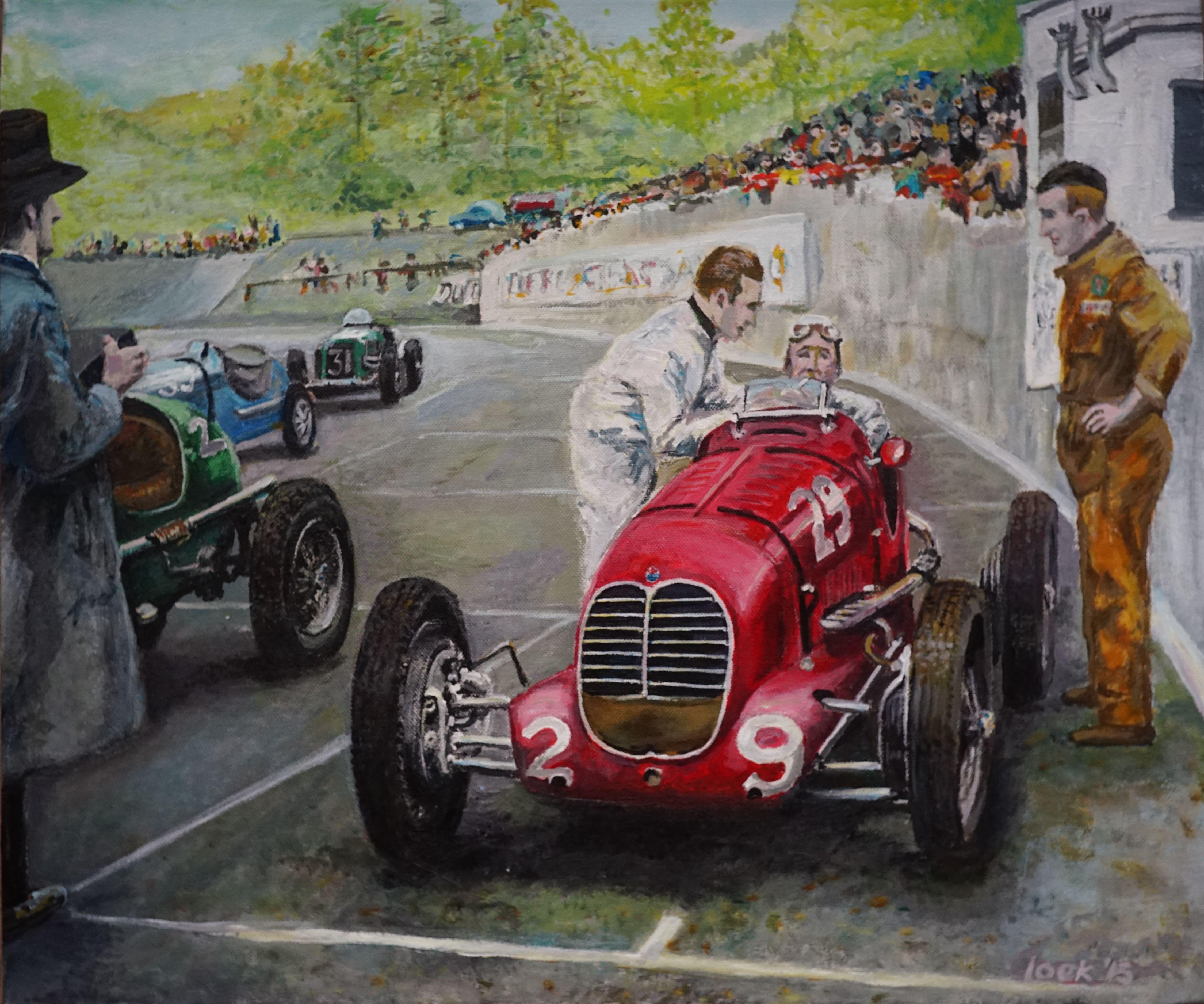 Count Trossi, Maserati 6CM, Donington Park 1937 by Loek Bakhuizen ...