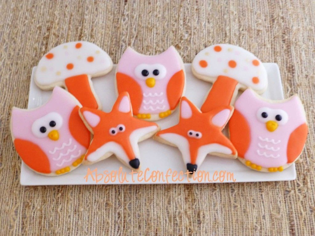 Owl Decorated Cookies Woodland Creature Decorated Sugar Cookies Absolute Confection