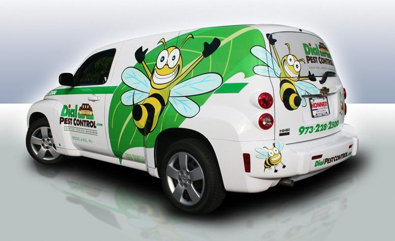 Another Vehicle Wrap Design For Dial Pest Control Based In Caldwell Nj We Previously Designed Their Branding And We Vehicle Signage Car Wrap Design Car Wrap