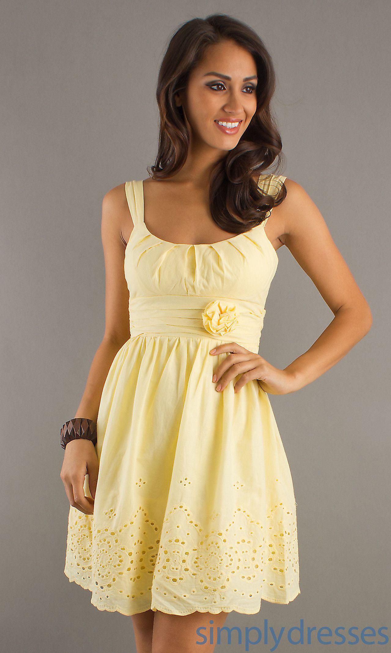 Eyelet sundress in buttercream yellow my style pinterest long