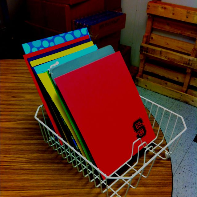 Dish drying rack uses- folders, clipboards and centers!