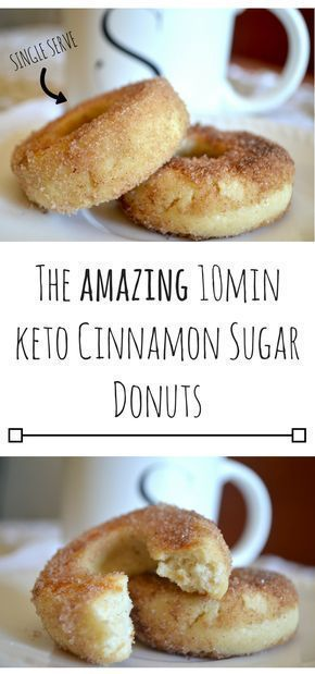 The AMAZING 10min Keto Cinnamon Sugar Donuts #ketobreakfast
