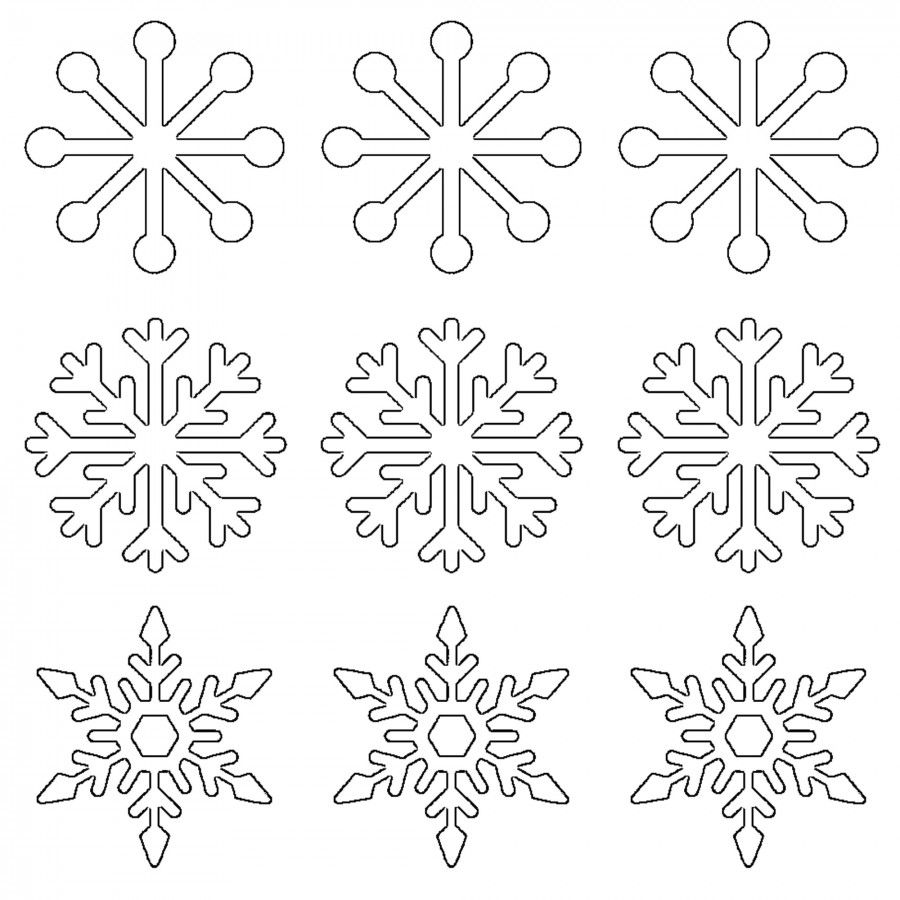 Free Printable Snowflake Templates â Large & Small Stencil