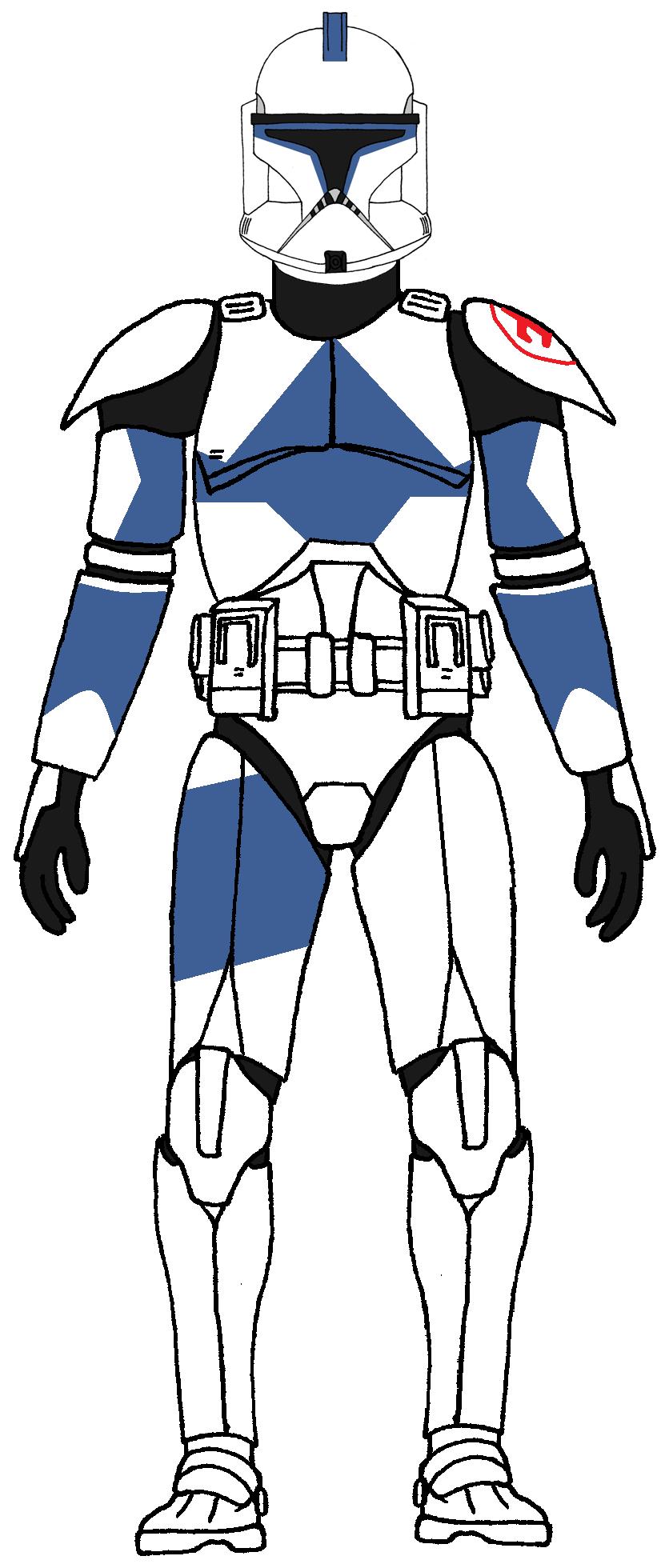 Clone Trooper 501st Legion Kix 1 Star Wars Clone Wars Star Wars Trooper Star Wars Drawings