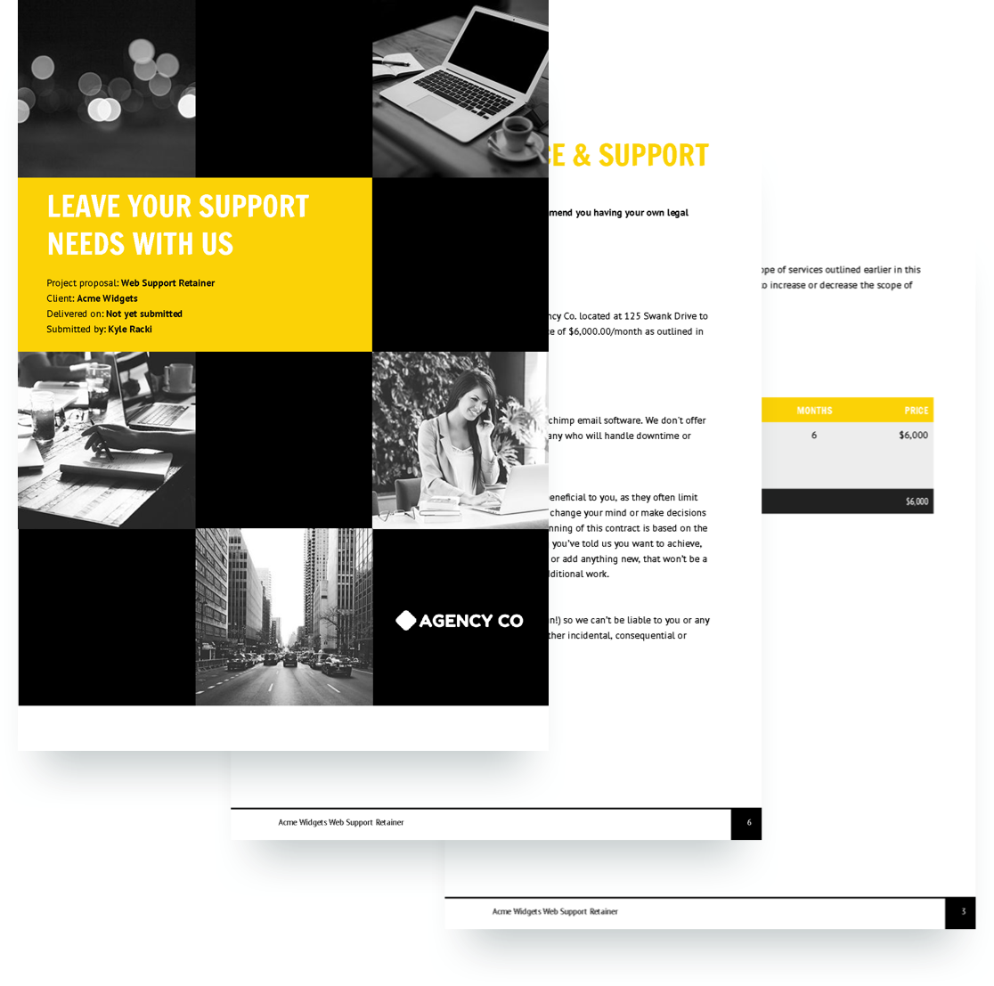 Web Support Retainer Proposal Template If You Re A Marketing