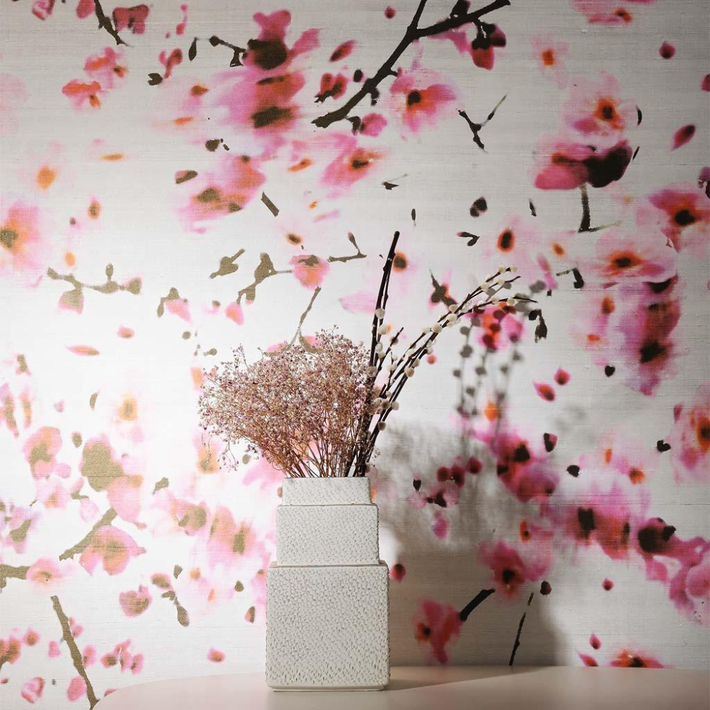 French Wallpaper by Elitis 'Kandy' Sakura Cherry Blossom