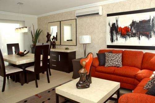 Tendencia en decoraci n de sala y comedor juntos for Salas para espacios pequenos
