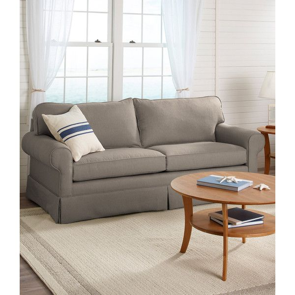 L.L.Bean Ocean Point Sofa, Twill Weave (4.485 BRL) ❤ liked on Polyvore