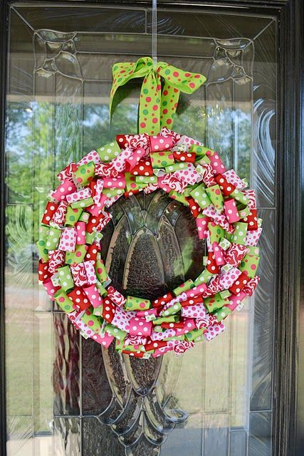 Photo of Christmas colors = wreath for playroom door?