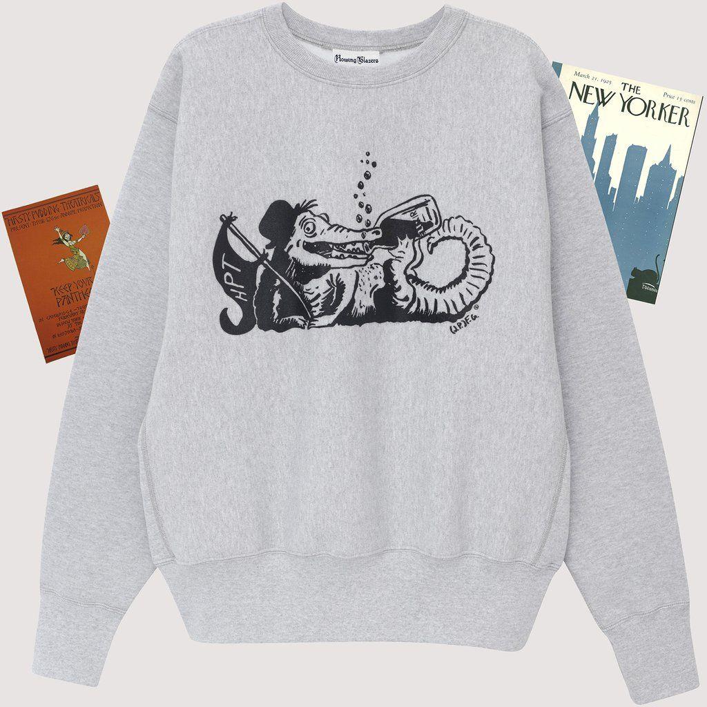 Reverse Weave Heavyweight Crewneck Hasty Pudding Croc Sweatshirt Sweatshirts Rowing Blazers Graphic Sweatshirt [ 1024 x 1024 Pixel ]