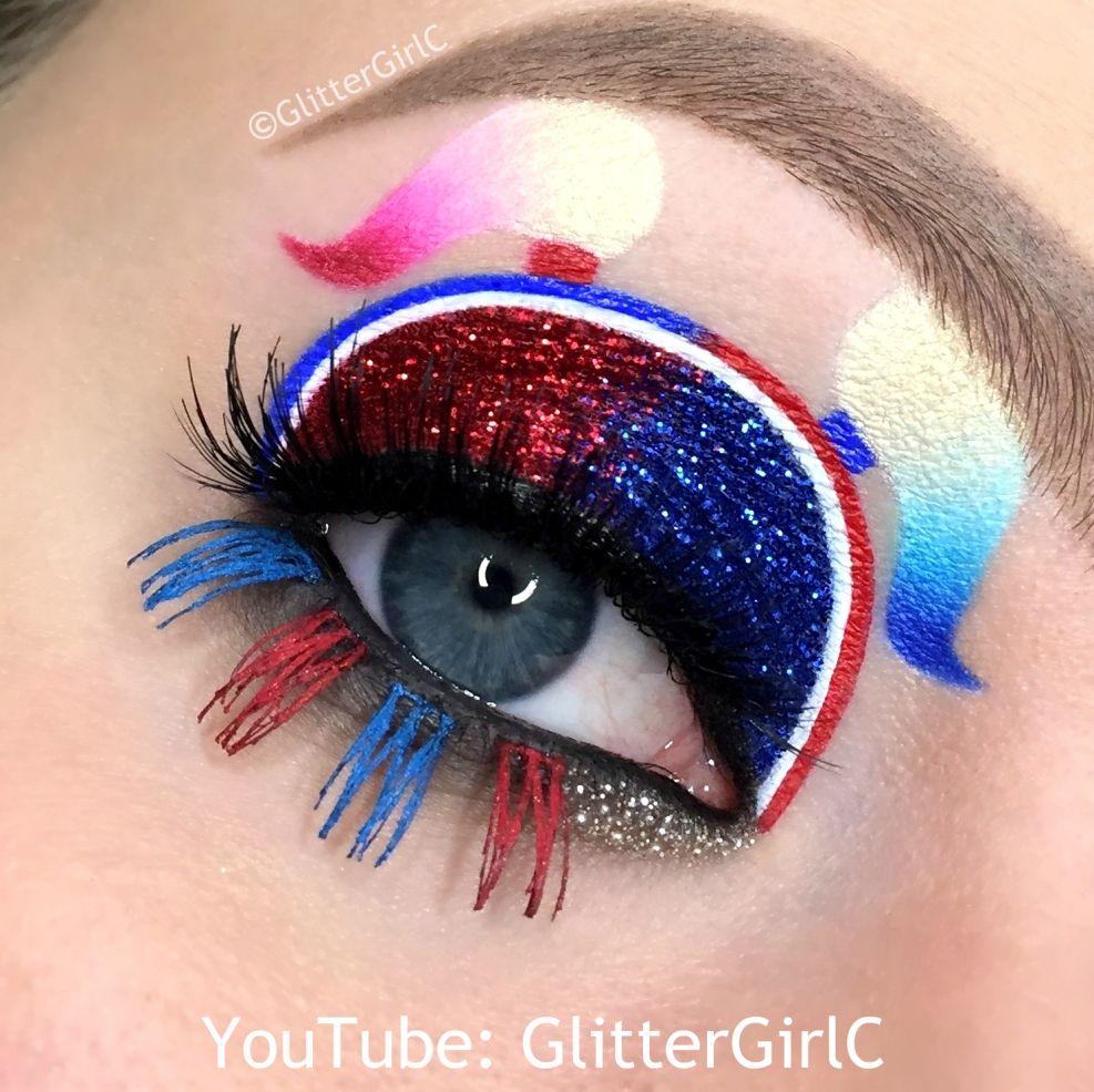 Fashion week Makeup eye unique art for woman