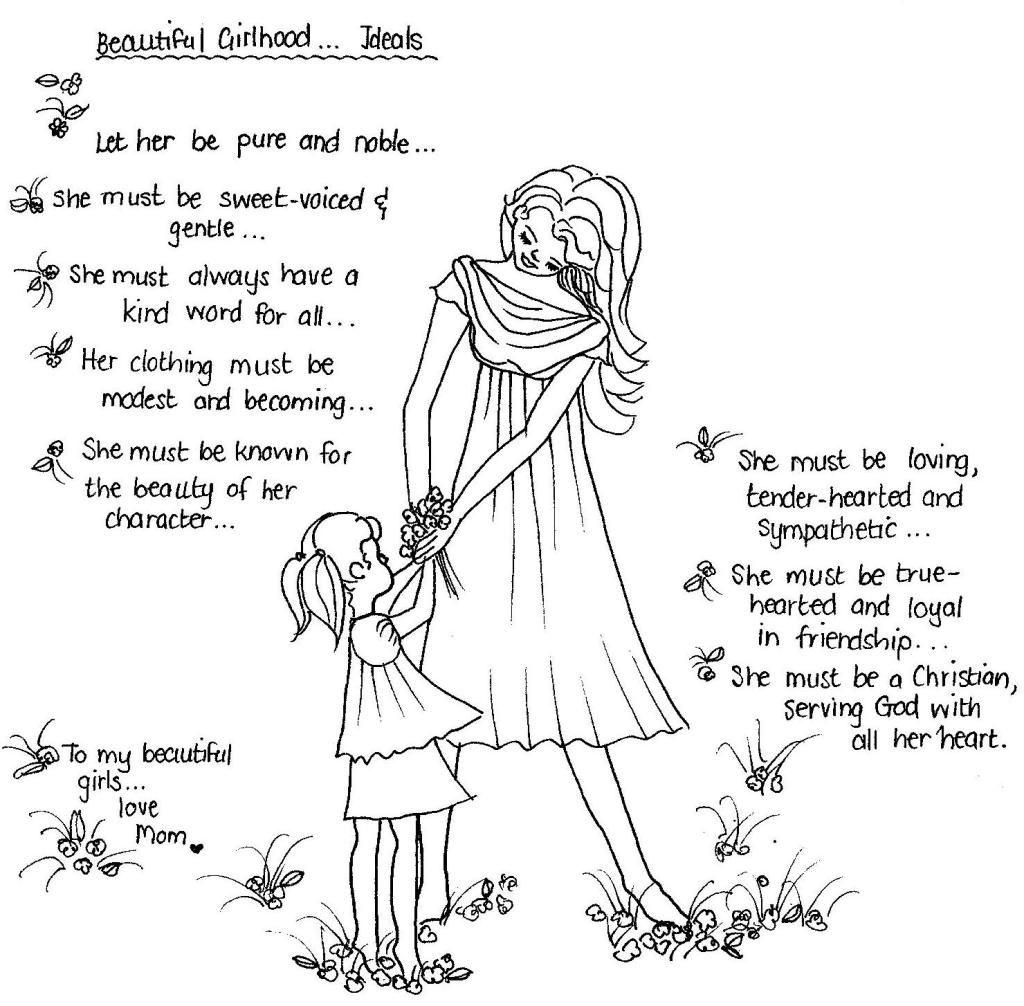 Beautiful Girlhood Ideals