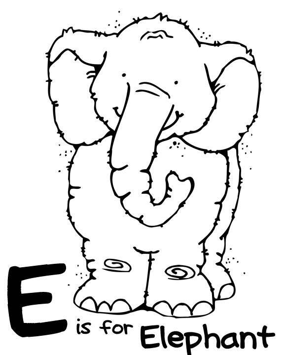 Letter E Week With Images Zoo Animal Coloring Pages Animal