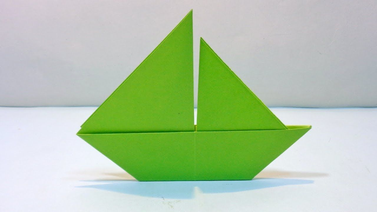 Making a simple boat out of paper with children 12