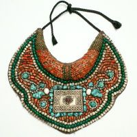Ethnic Beaded Collar Necklace    early 20th Century